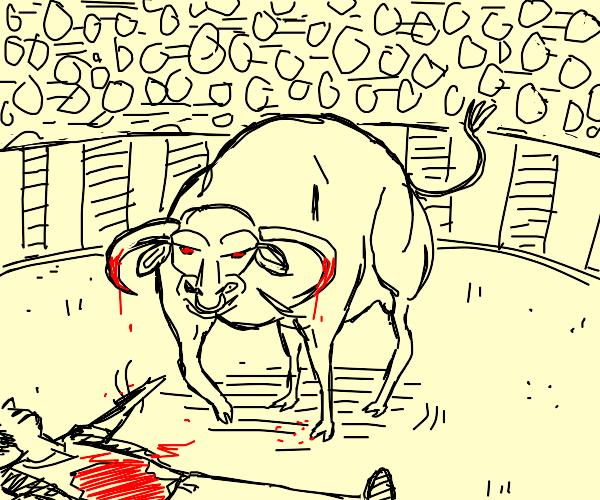 bull kills a man ;(