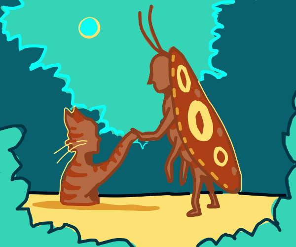 bug man saves cat man in quick sand