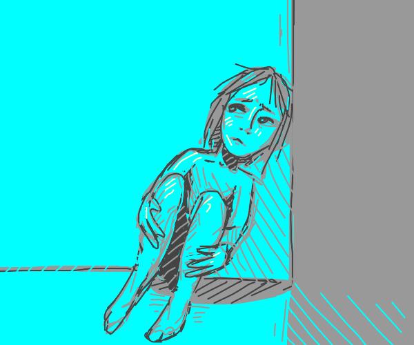 freesing sick girl