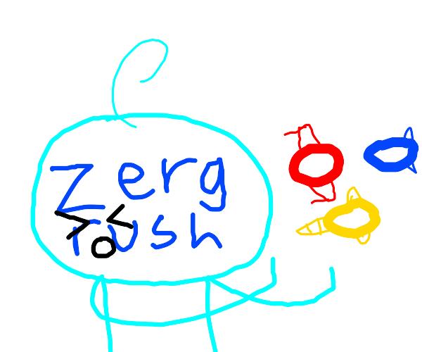 zerg rush (google game) personified