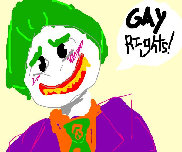 Cute clown says gay rights