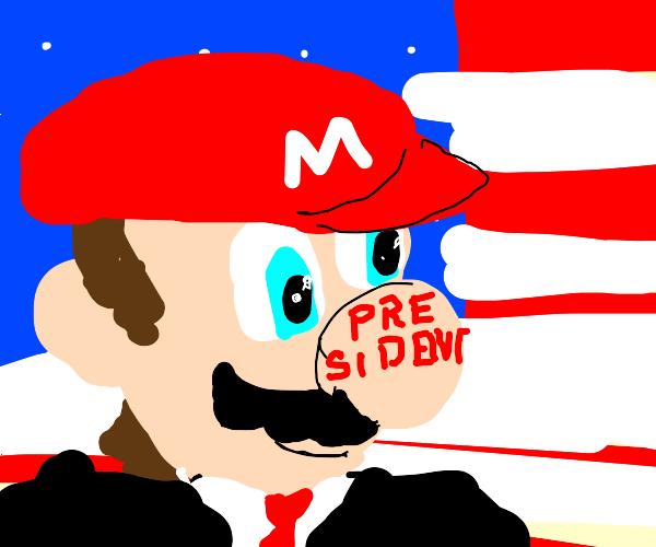 mario runs for president