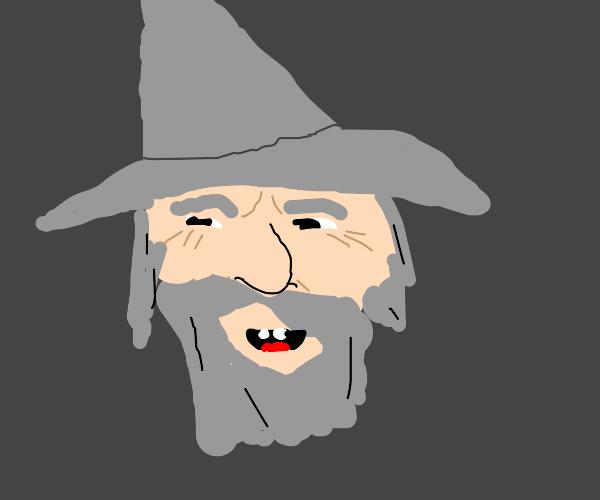 Gandalf nodding his head gif