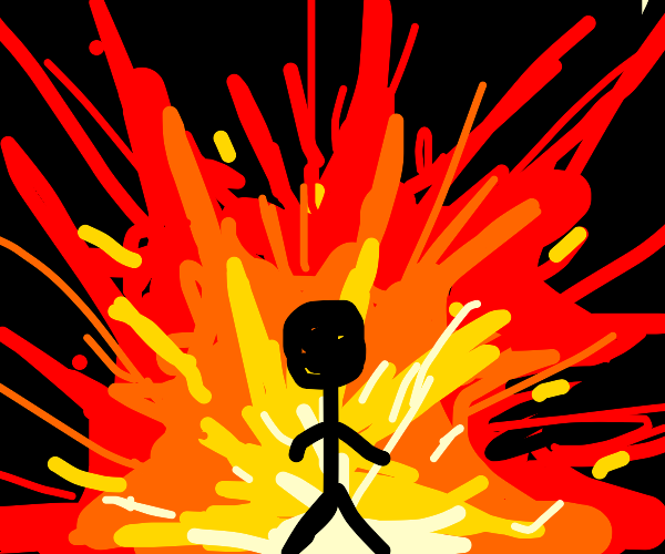 Walking away from an explosion