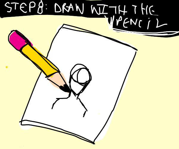 Step 7: Erase with the eraser