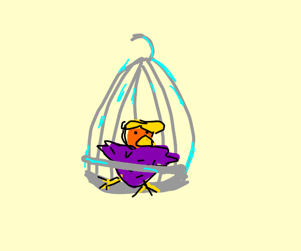 Donald Trump is a caged bird