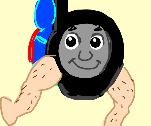 Thomas the Tank Engine has legs and money