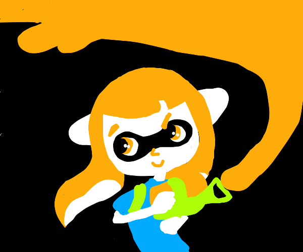 THAT ORANGE SPLATOON CARACTER
