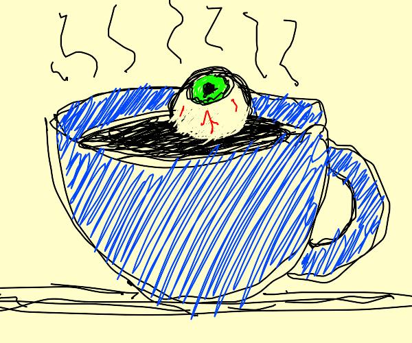 Eye in coffee