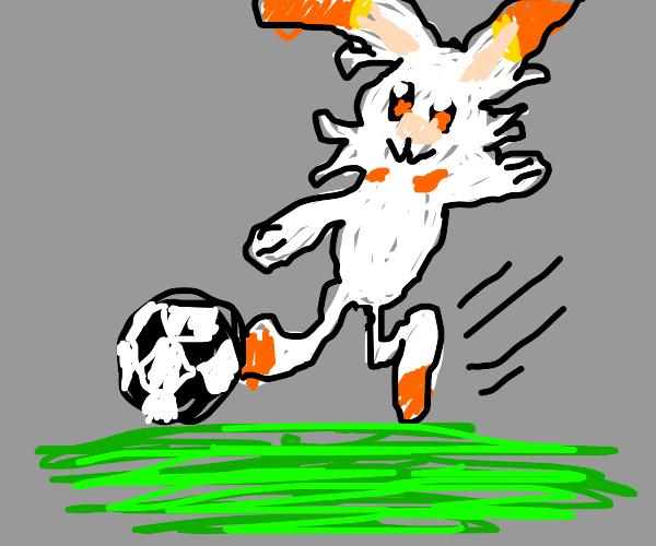 Scorbunny Kicks SoccerBall