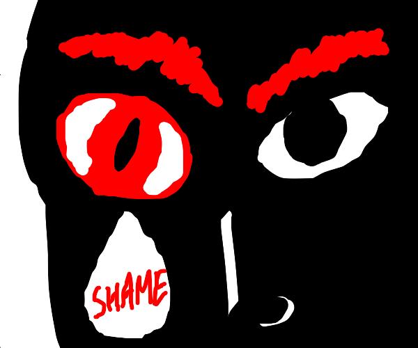 I'm ashamed of my left eye!