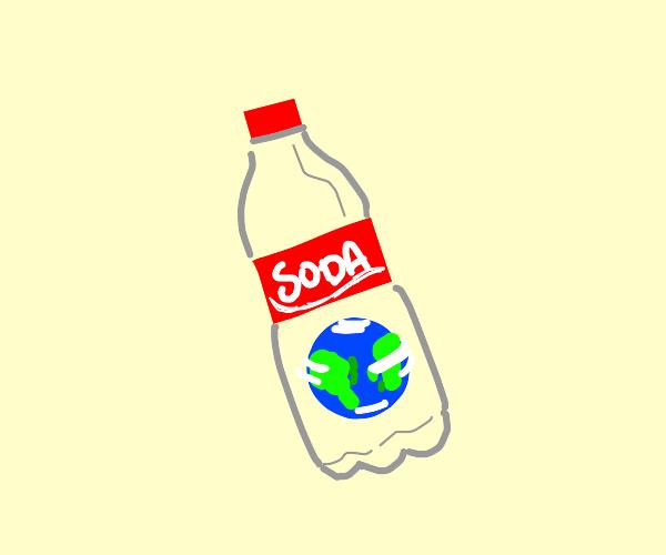 Mini-earth in a Coca-Cola Bottle