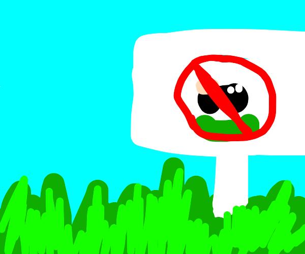 No stepping grass