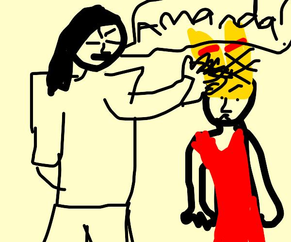 Ms.Trunchbull pulls Amandas pigtails (matilda