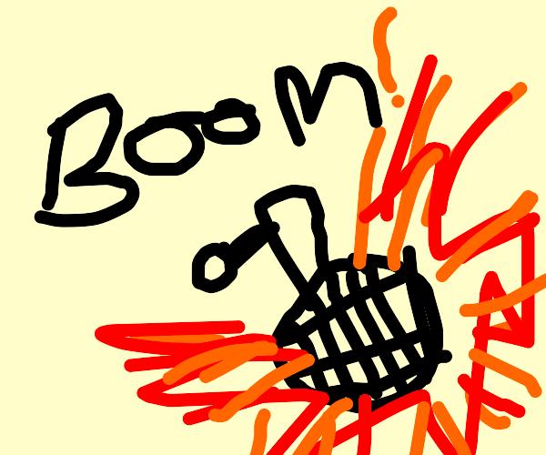 Big bomb goes booom