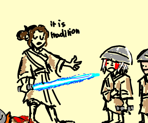 rey kills the younglings (as is tradition)