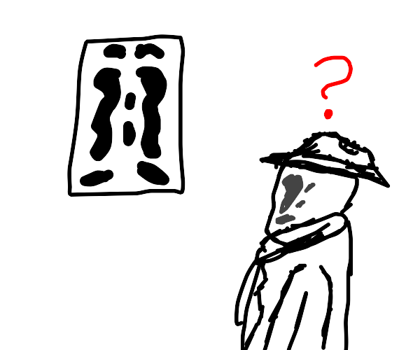 Disbelief over inkblot