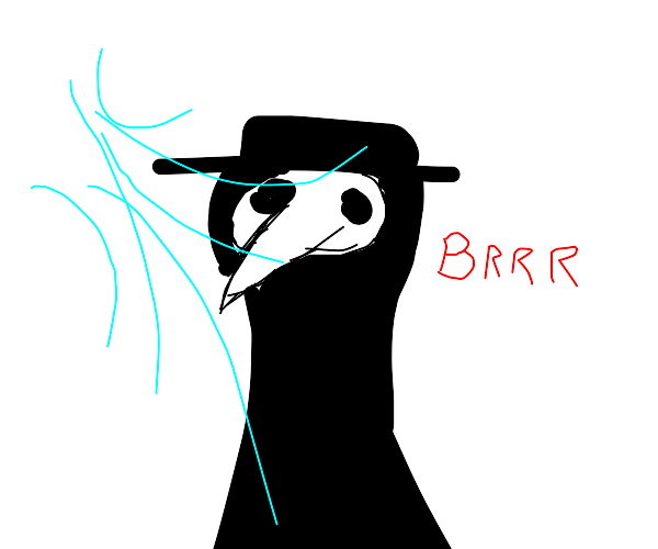 plague doctor in a blizzard