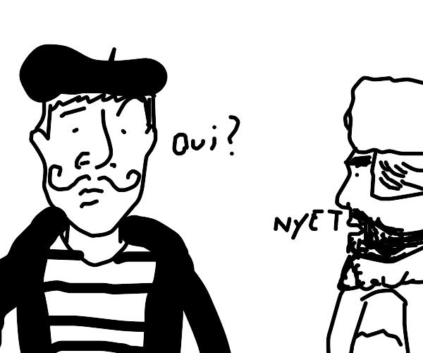 Those 2 guys don't speak the same language.
