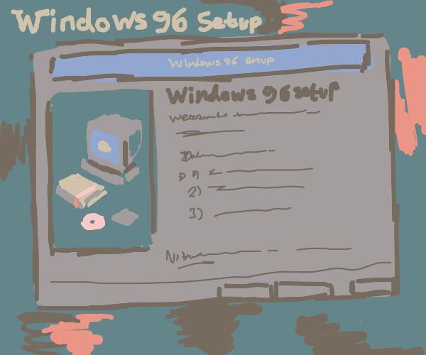 windows 96 setup screen