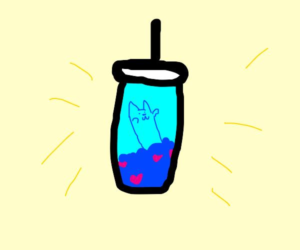 Cat milkshake