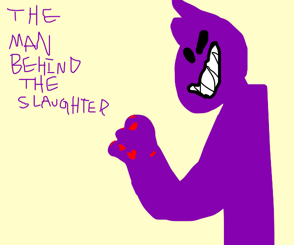 purple guy with shark teeth