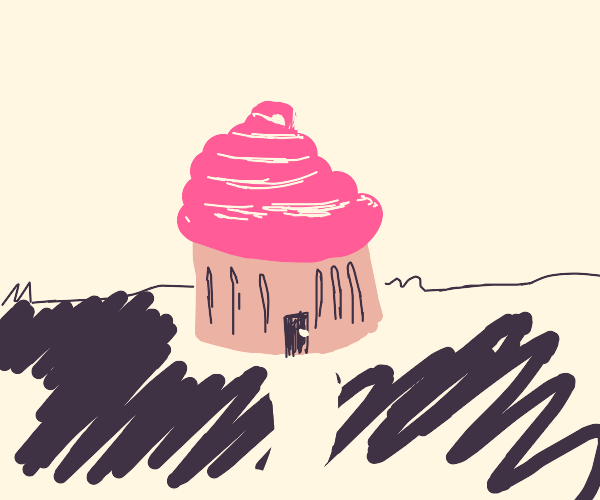 Cup cake house