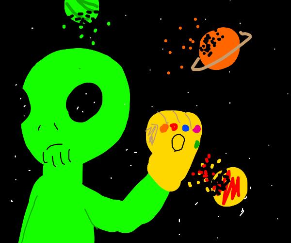 Alien is now Thanos