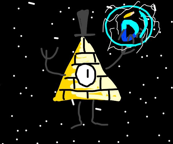 Drawception D meets Bill Cipher