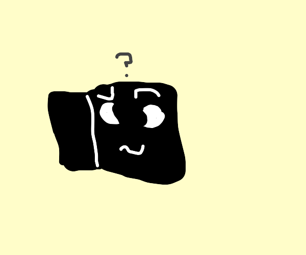 black cube is perplexed by thought
