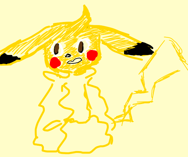 Humanoid Pikachu with a horn