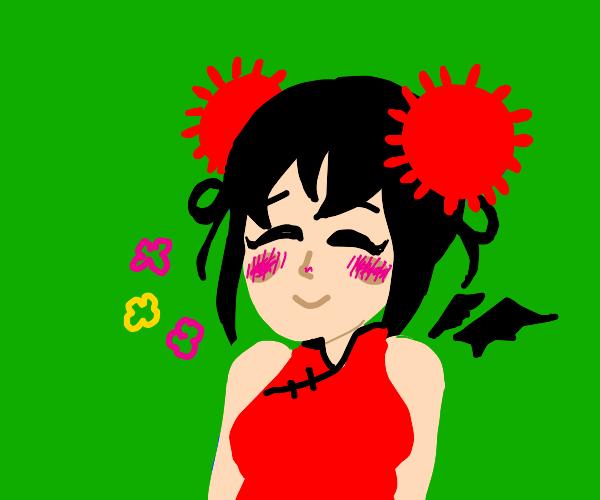 blushing corona