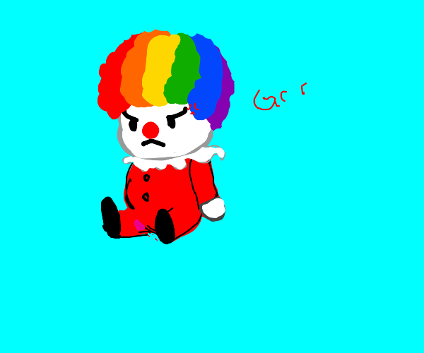 Angry baby clown