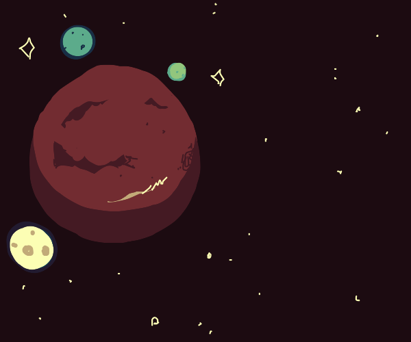 Mars with three moons