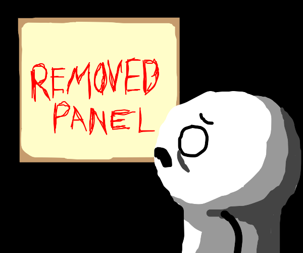 the mystery of the removed panel