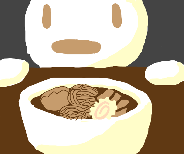 person is wowed at ramen