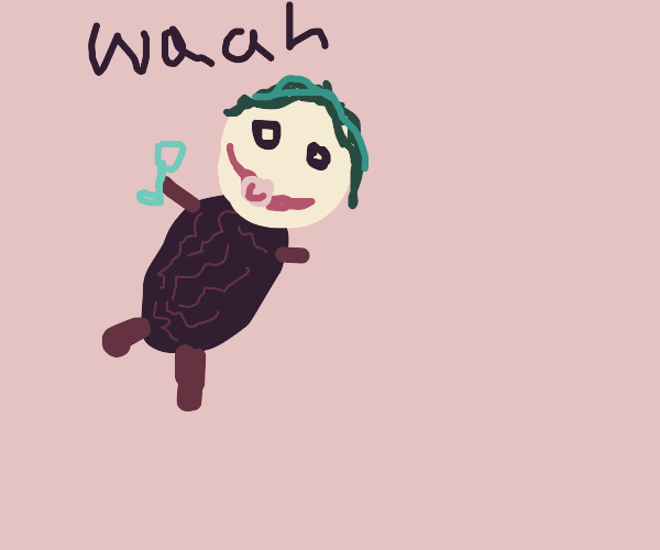 its the joker baby (but his body is a raisin)
