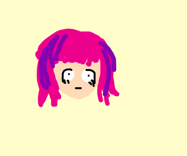 women with pink hair, purple highlights