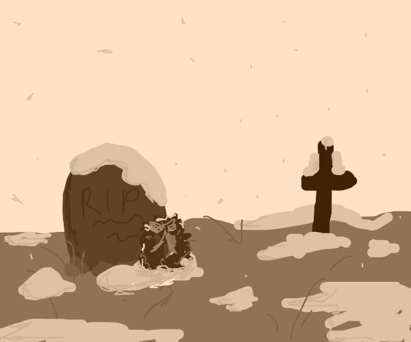 winter at the graveyard