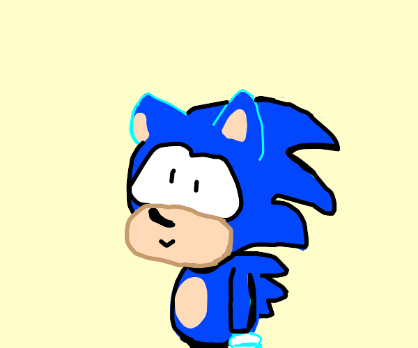 The new sonic, but cartoon