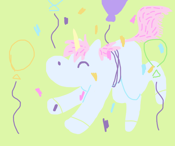 unicorn has party
