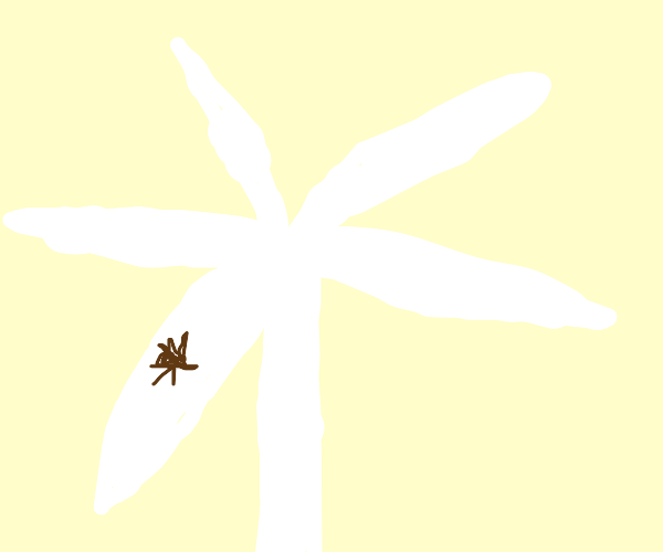 A giant spider on a old fashioned windmill