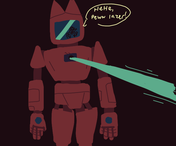 pew lazer robot