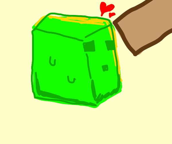 slime loves the hand