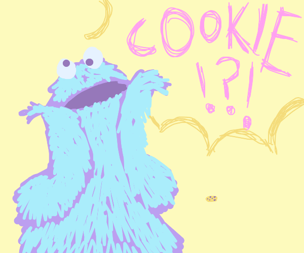 Cookie Monster looking for cookies