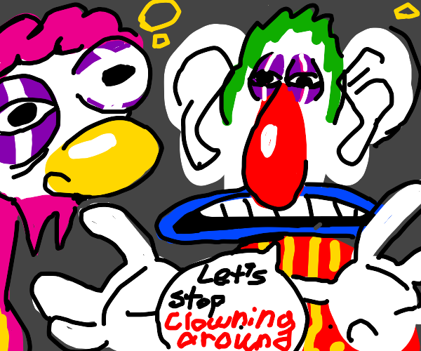 alcoholic clown gets down to business