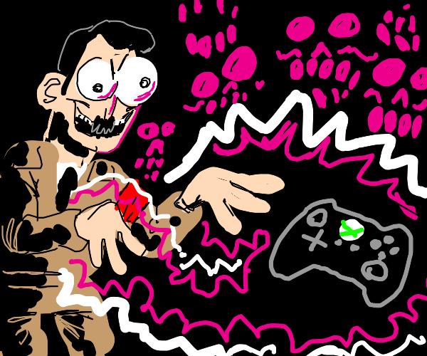Adolf Hitler cursing a Xbox controller