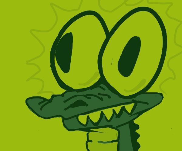 crocodile with big eyes