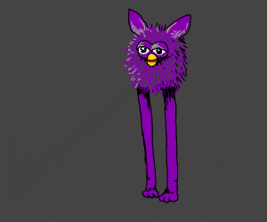 talll purple furby
