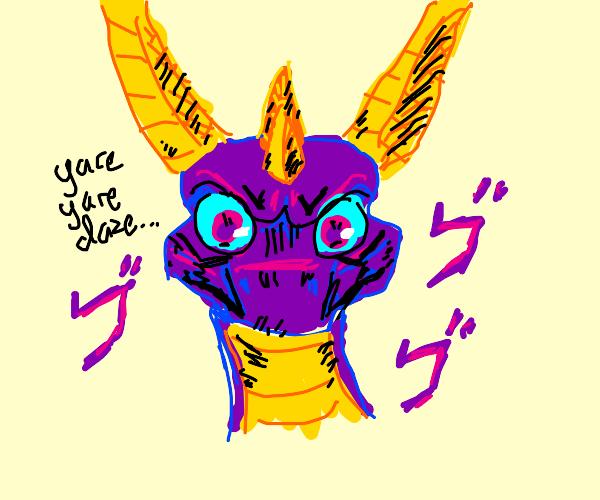 Spyro the Dragon, but He's also JoJo